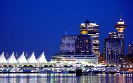 溫哥華市中心夜景