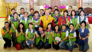 2014年4月26日、27日,在台灣雷藏寺舉行首屆的「大專超生命活力成長營」,由真佛宗博士教授團授課,精彩成功。圖為盧師尊與成長營義工大合影。