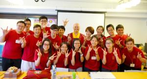 2014年4月26日、27日,在台灣雷藏寺所舉行的首屆「大專超生命活力成長營」,由真佛宗博士教授團授課,精彩成功。圖為蓮寧上師與學員合影。