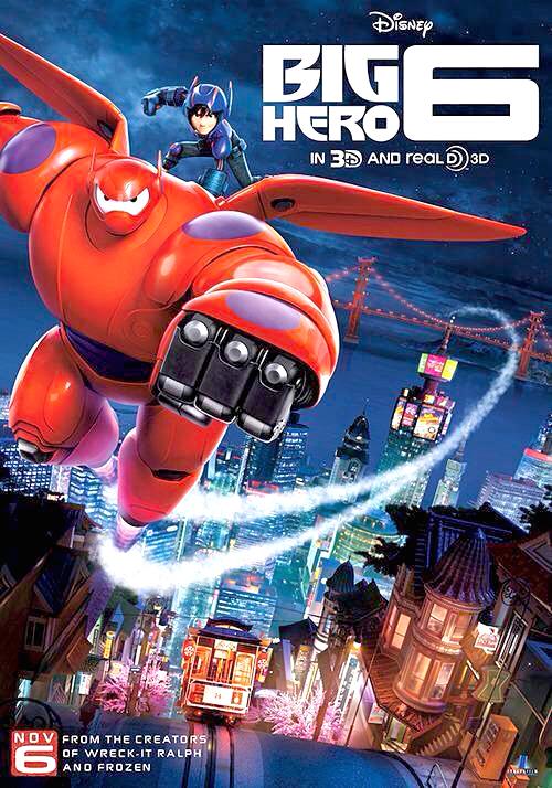 迪士尼動畫片《大英雄天團》(英文名:Big Hero 6)海報。p1029-a1-02