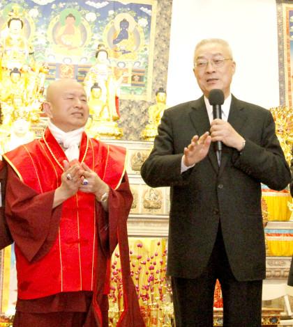 圖為貴賓吳敦義副總統致詞拜年p1045-02-02