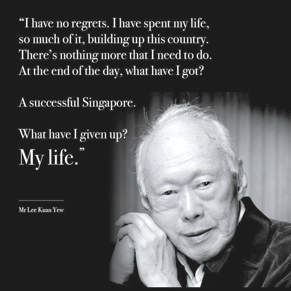 文/新加坡 如一   幾個星期前,看到新聞報導前新加坡總理李光耀先生因感染肺炎住院的消息,於是立即幫他報名來臨的週六聖尊蓮生活佛盧勝彥在台灣雷藏寺主持的「息災祈福」法會。   當天晚上總理公署發表聲明說「李光耀先生住院已有二十多天,病情一直沒有好轉,今晚病情稍微有些起色。」頓時欣喜安慰,感謝聖尊和佛菩薩的慈悲加持。   接下來,陸續也幫李光耀先生報名了聖尊親自主持的法會,祈求他能早日康復出院。奈何,李光耀先生還是抵不過病魔侵襲,病情每況日下,終於在3月23日凌晨病逝,享壽91歲。   李光耀先生是新加坡第