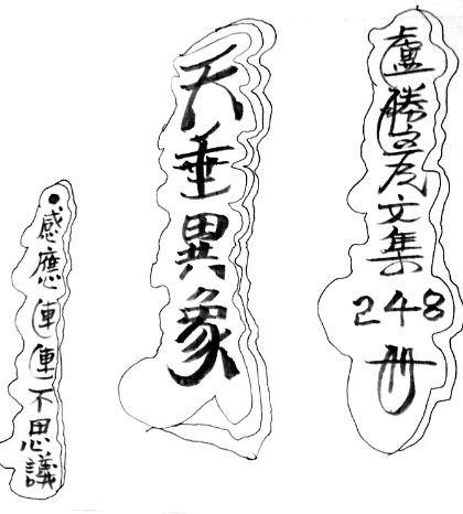 圖為盧勝彥文集第248冊《天垂異象》手稿封面p1057-03-07