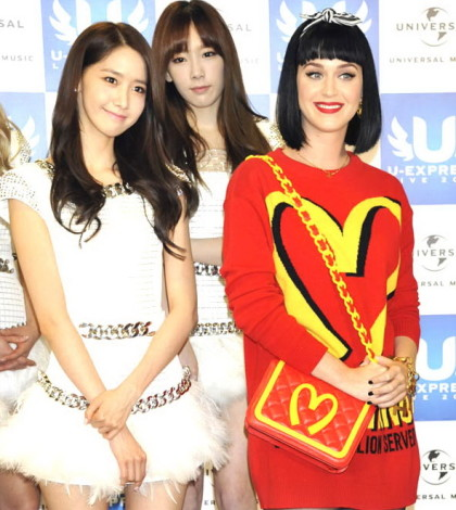 Katy Perry and Girls' Generation attend the U-Express Live 2014 press conference