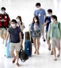 南韓民眾出門旅行時人人戴口罩p1062-a4-01