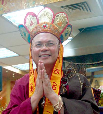 圖為蓮寧金剛上師2015年7月12日台北法明同修會地藏王菩薩護摩法會法語開示p1071-14-01