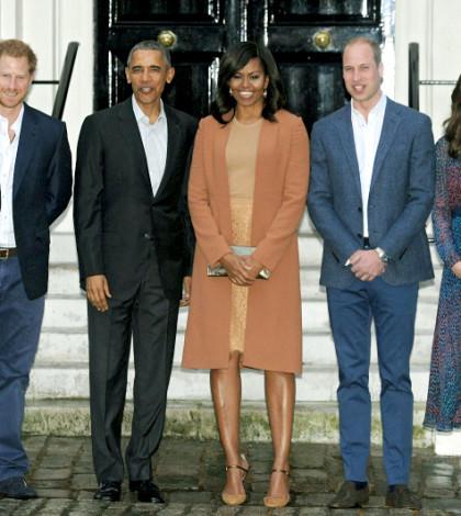 哈利王子、歐巴馬、蜜雪兒、威廉王子和凱特王妃p1106-a1-02