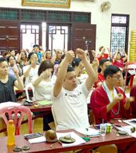 圖為法器唱誦培訓班學員專心聽課p1131-13-02