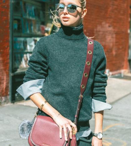 時尚名媛希臘公主(Princess Olympia of Greece)在Michael Kors首波The Walk系列活動中,以街拍展現了Brooklyn馬鞍包的復古俏麗,設計以金屬配件、流蘇、吉他寬版背帶,散發波西米亞的風情。p1135-a5-01