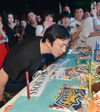 王思聰的生日蛋糕,以海底世界為主題,上面用各式各樣海洋生物點綴。p1142-a4-03