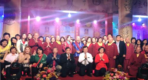 圖為蓮生法王、蓮香師母與黃帝雷藏寺眾貴賓及善信合影p1147-01-08