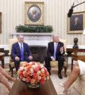 川普伉儷在白宮接待以色列總理尼坦雅胡夫婦美國總統川普p1149-a1-03B
