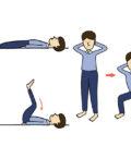 提升體溫。屈膝腹肌運動,鍛鍊腹肌可以提升基礎代謝,促進肝腎等內臟血流量增多,預防、改善代謝症候群。深蹲運動,人體70%肌肉都在下半身,透過深蹲可以給予下半身肌肉大量刺激。p1155-a5-01