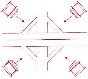 圖為住家大門正對高速公路的交流道,就如同綁線的「死結」一般,最好趕緊搬家p1156-a1-02
