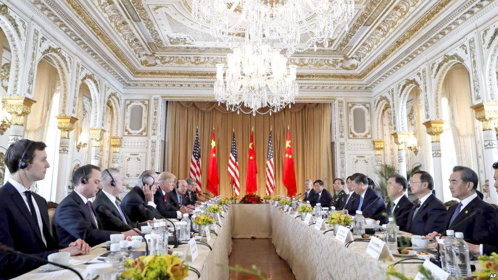美國總統川普與中國大陸國家主席習近平舉行雙邊會談p1156-a1-03b