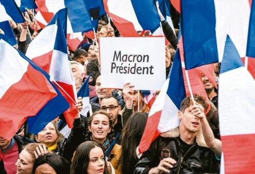 法國選民支持者歡呼 p1160-a1-05