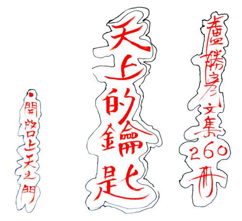 盧勝彥第260冊文集《天上的鑰匙──開啟天上之門》手寫稿封面 p1169-06-01天上的鑰匙