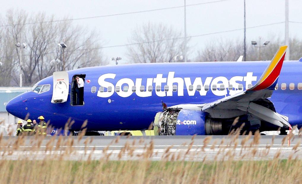 美國西南航空由紐約飛往達拉斯的波音737客機