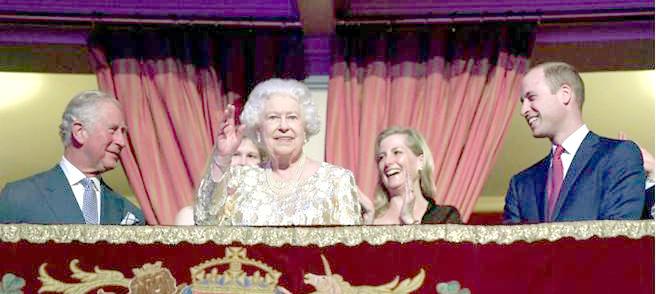 英女王出席慶祝音樂會
