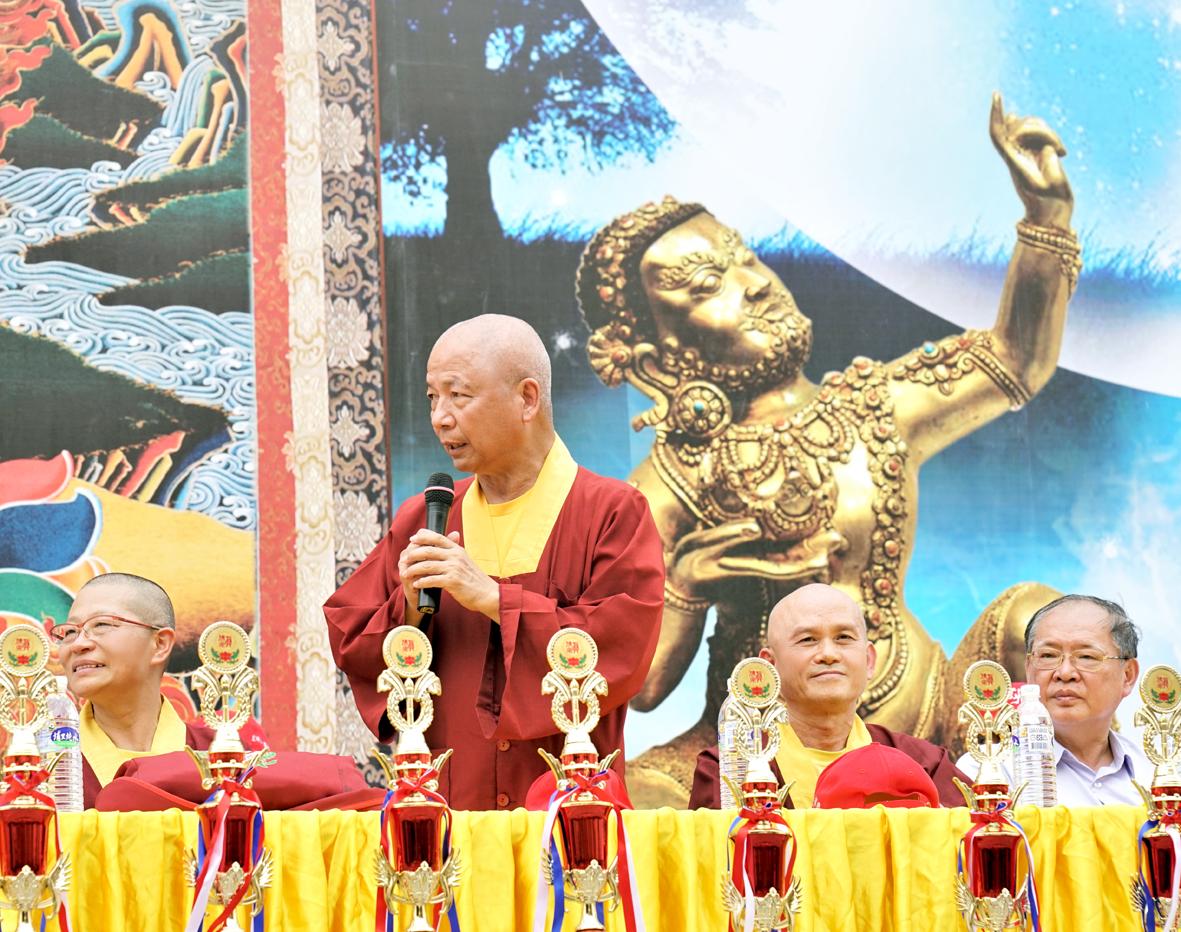中國真佛宗密教總會理事長蓮歐上師致詞