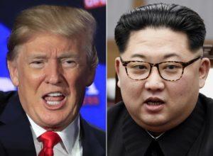 美國總統川普與北韓領導人金正恩