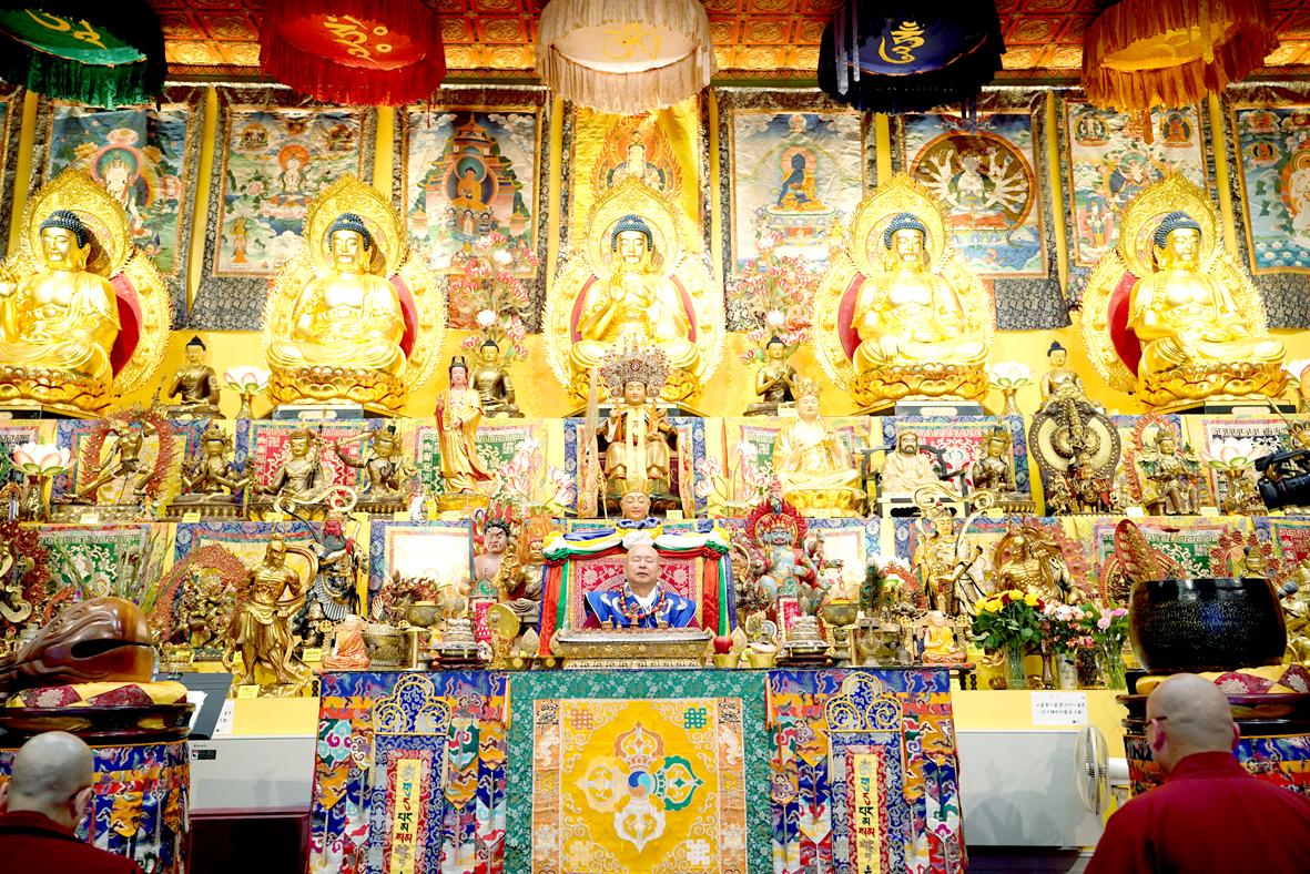 西雅圖雷藏寺莊嚴的壇城