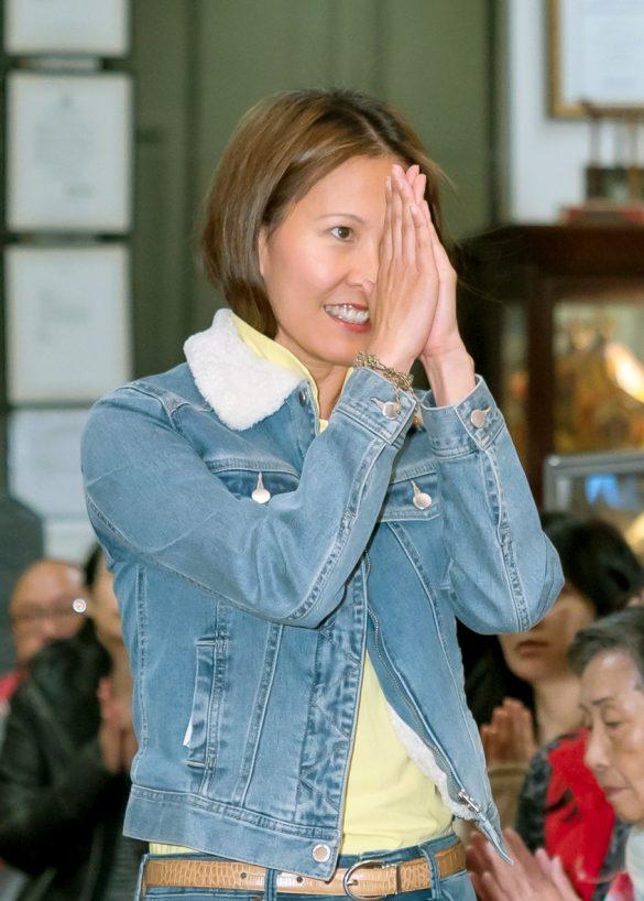 貴賓廖東周大使夫人Judy師姐向師尊問安