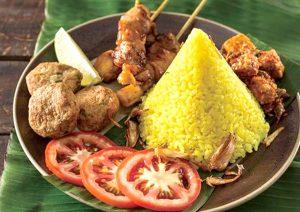 印尼年節食物薑黃飯