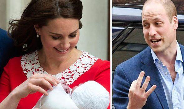 凱特王妃抱著路易王子            威廉王子