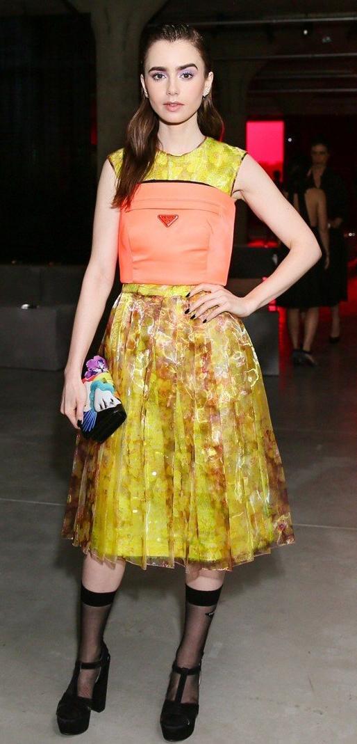 潤娥 莉莉柯林斯現身紐約時裝週