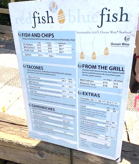 海鮮料理菜單