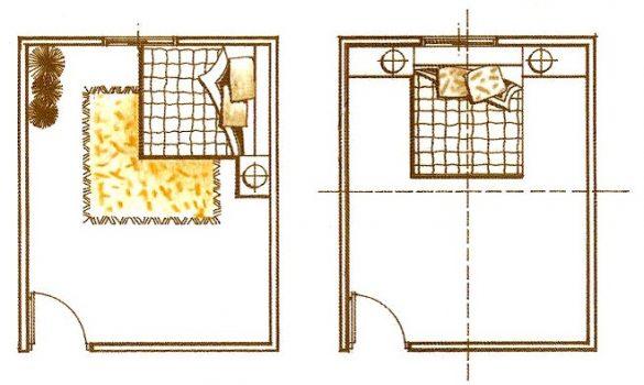 床鋪不對門臥時可以自然看見出入的門